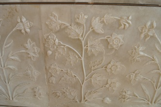 Marble decorating on entrance
