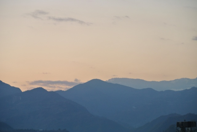 Pokhara: sunset