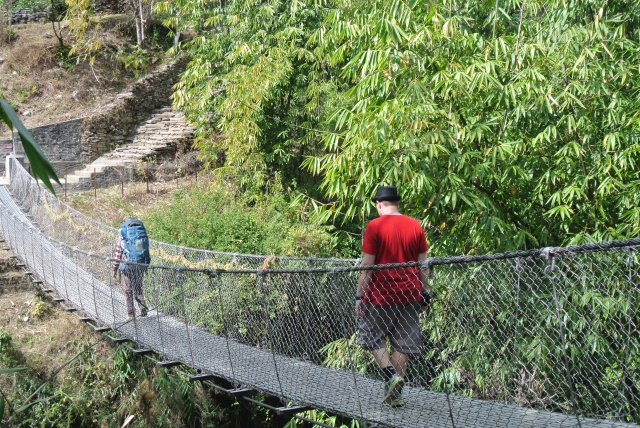 Trek to Ulleri: on the way to the dreaded steps