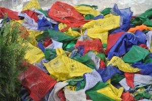 Bodhnath: A sea of flags.