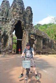 Siem Reap: Those manual brakes at work!