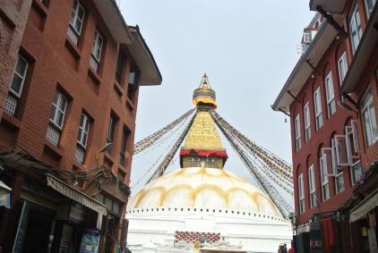 Like a Final Boss in Shinobi the Stupa found us out!