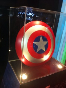 Subtle reminder that Captain America 2 is due to be released!