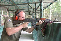 The kick off of an AK-47 is huge!