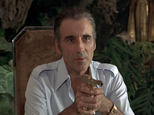 Christopher Lee plays a wonderful role as Francisco Scaramanga.