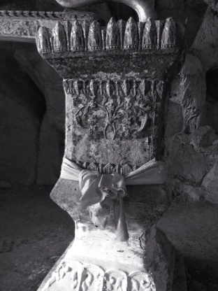This ceremonial font was used to wash the statues