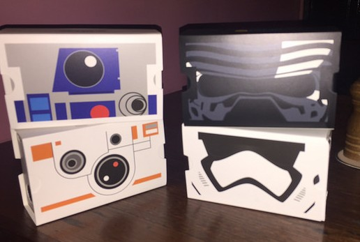 R2-D2, BB8, Kylo Ren and a Storm Trooper Google Viewer