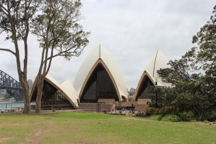 Sydney Opera House from the park.