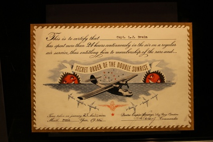Certificate of completion of the Kangaroo Route