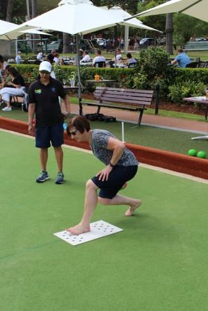 Bernadette having a go